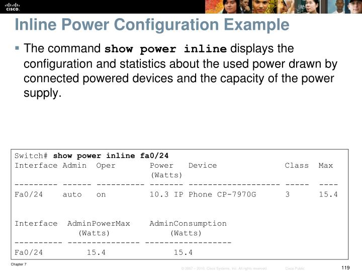 Inline Power Configuration Example