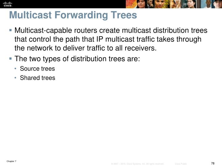 Multicast Forwarding Trees