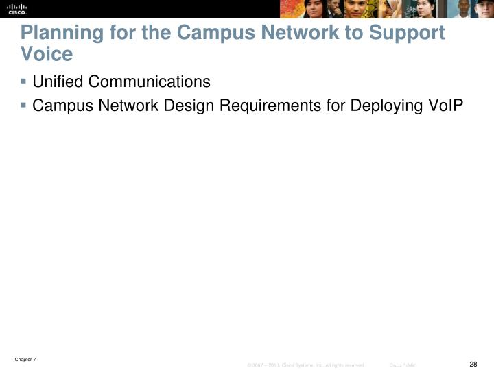 Planning for the Campus Network to Support Voice