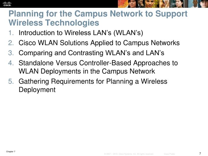 Planning for the Campus Network to Support Wireless Technologies
