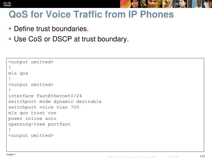 QoS for Voice Traffic from IP Phones