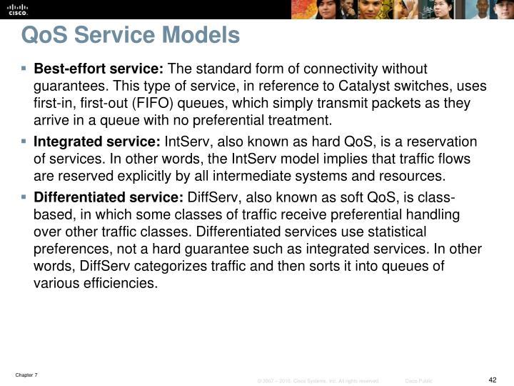 QoS Service Models