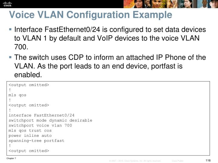 Voice VLAN Configuration Example
