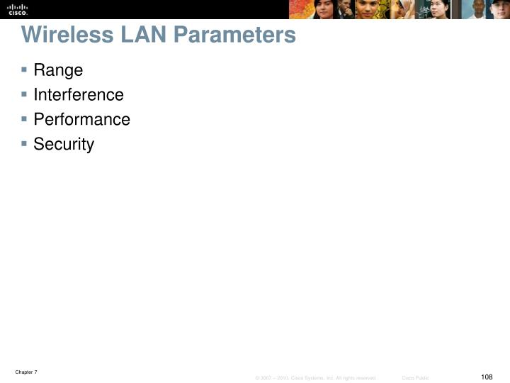 Wireless LAN Parameters