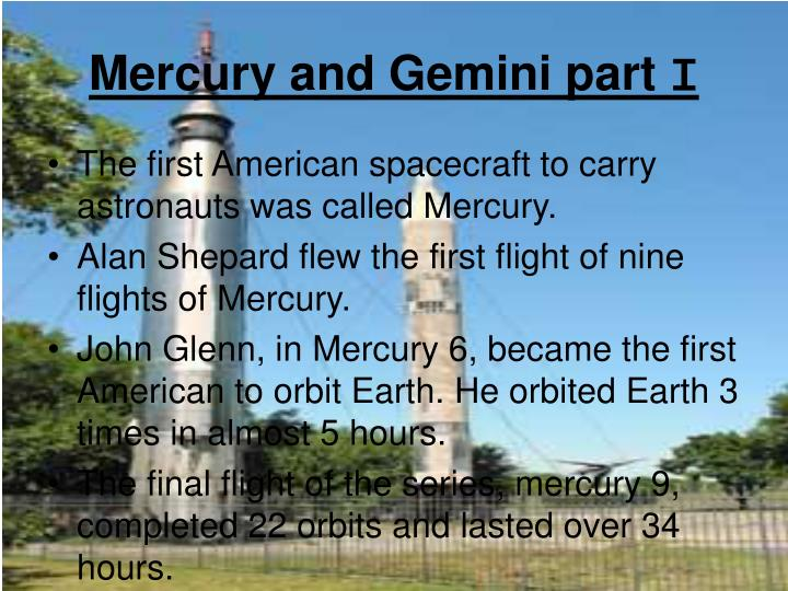 Mercury and Gemini part