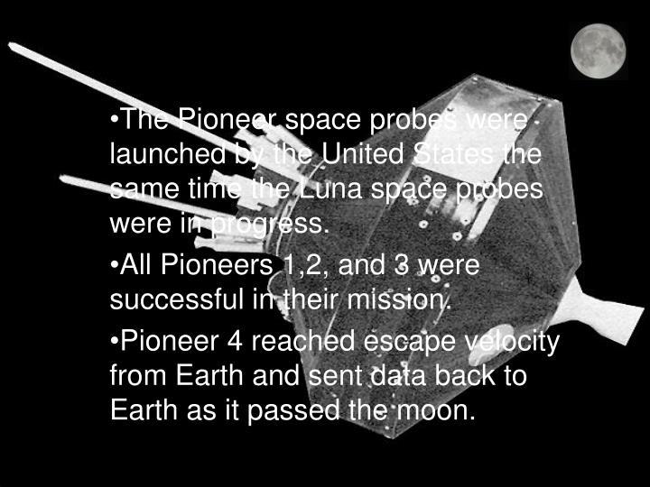 Pioneer space probes