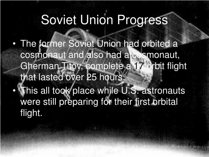 Soviet Union Progress
