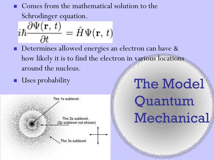 The Model Quantum Mechanical
