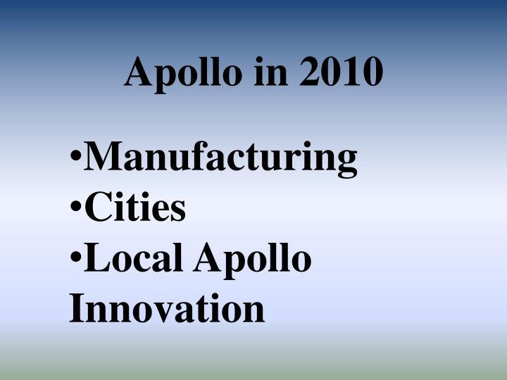 Apollo in 2010