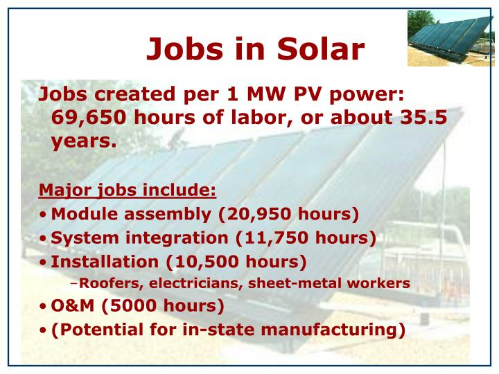 Jobs in Solar