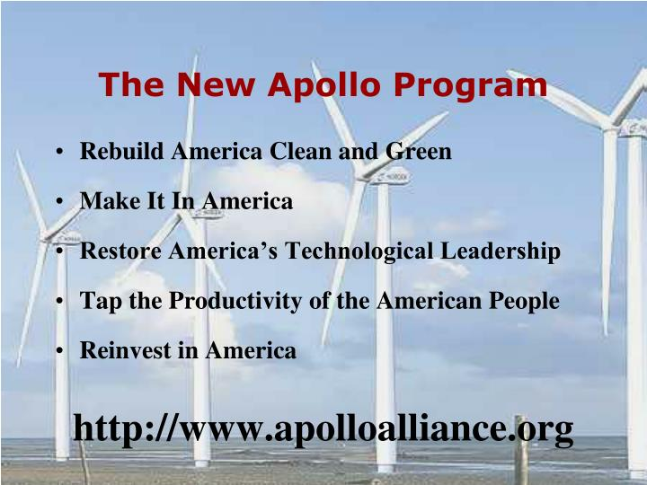 The New Apollo Program