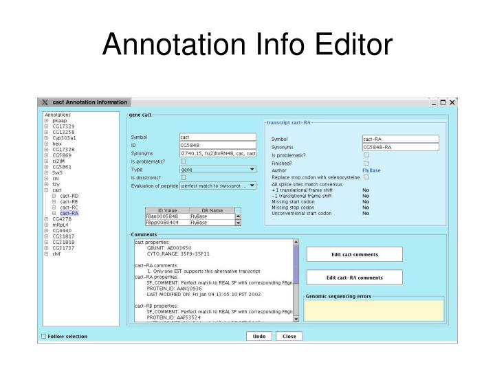 Annotation Info Editor