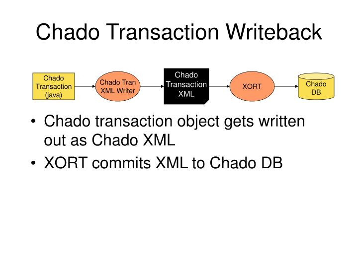 Chado Transaction Writeback