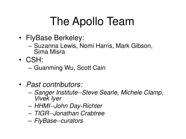 The Apollo Team