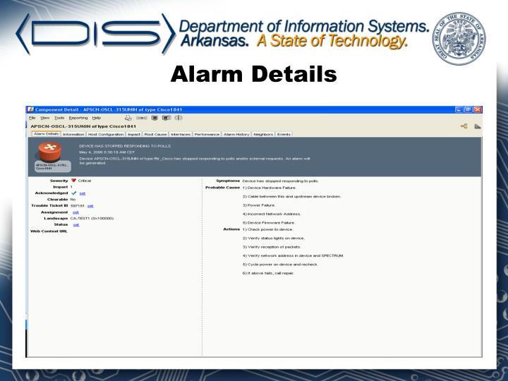 Alarm Details