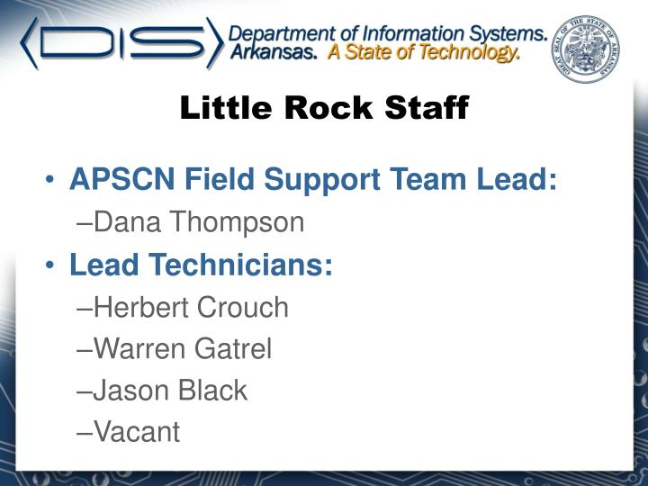 Little Rock Staff