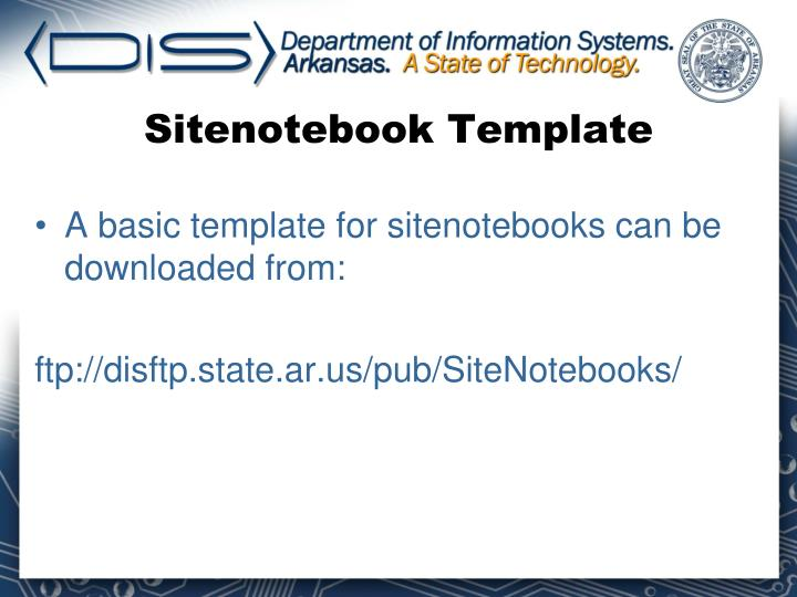 Sitenotebook Template