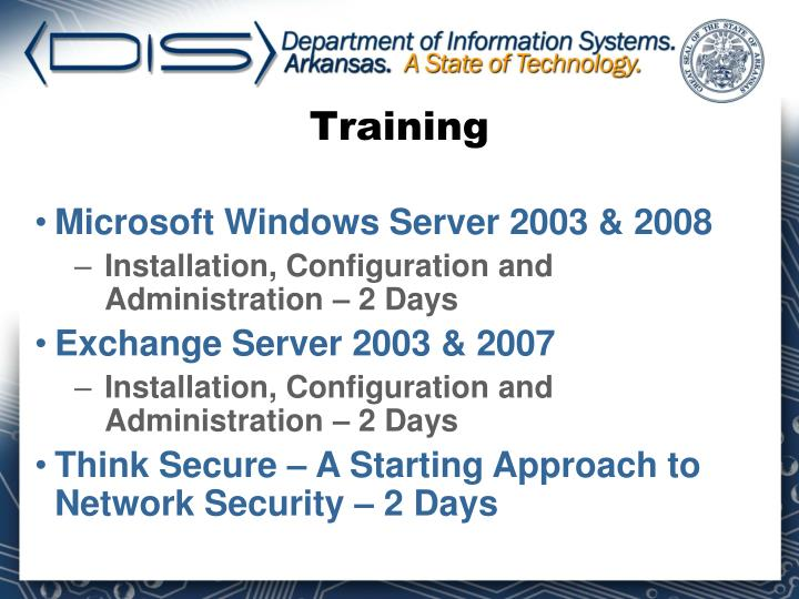 Microsoft Windows Server 2003 & 2008