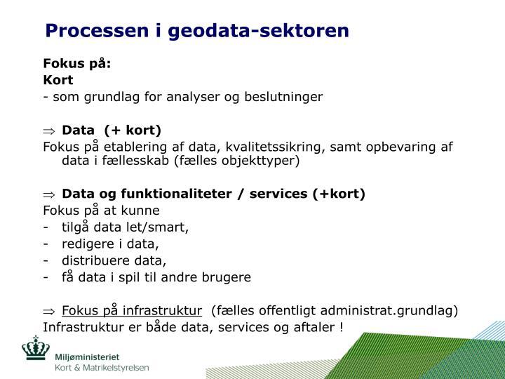 Processen i geodata-sektoren
