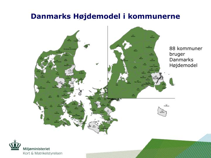 Danmarks Højdemodel i kommunerne
