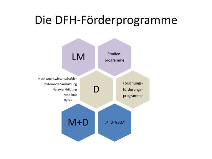 Die DFH-Förderprogramme