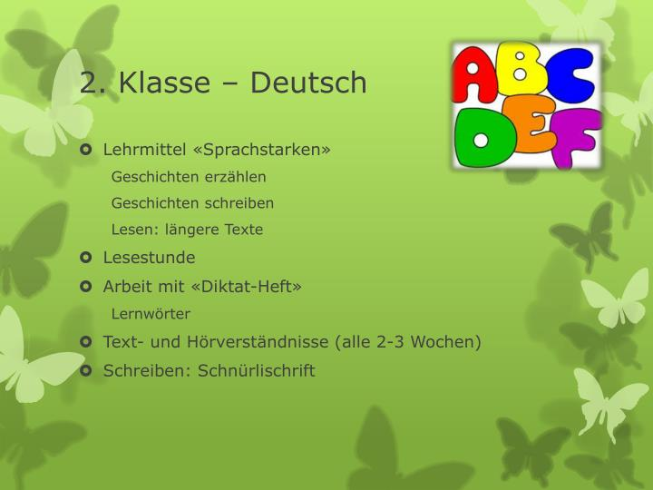 2. Klasse – Deutsch