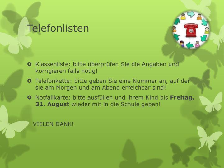 Telefonlisten