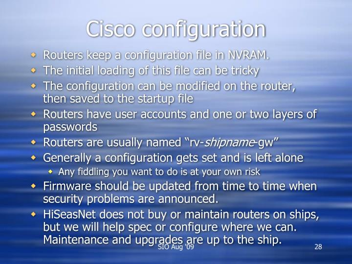 Cisco configuration