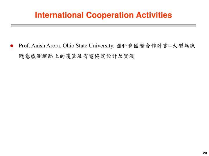 International Cooperation Activities