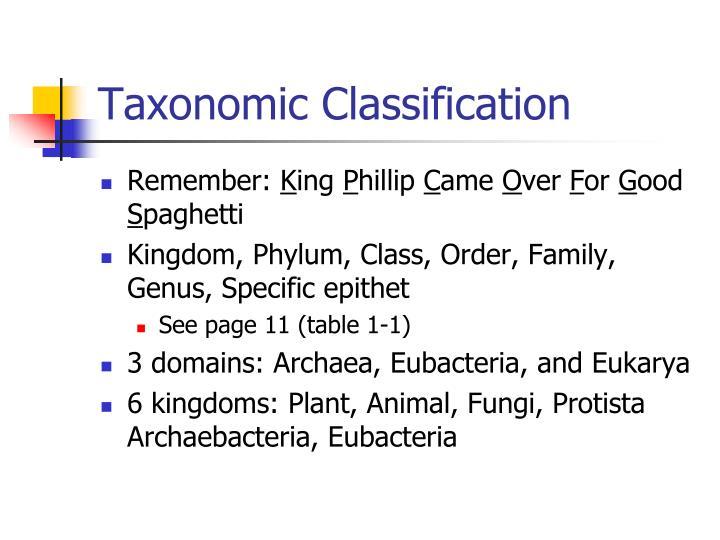 Taxonomic Classification