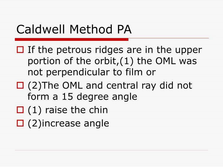 Caldwell Method PA