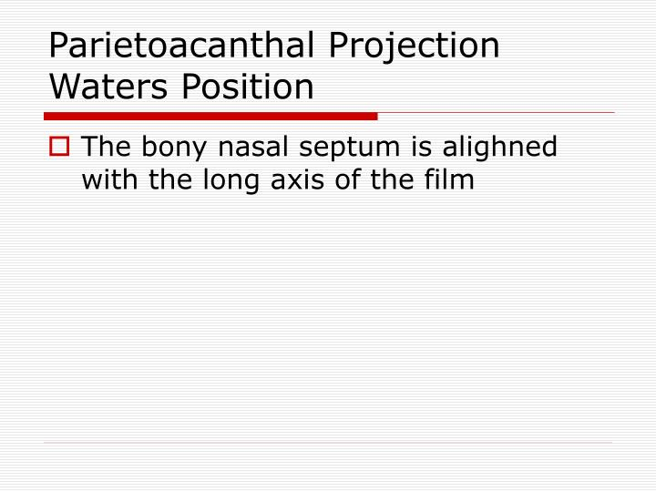 Parietoacanthal Projection
