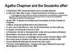 agatha chapman and the gouzenko affair