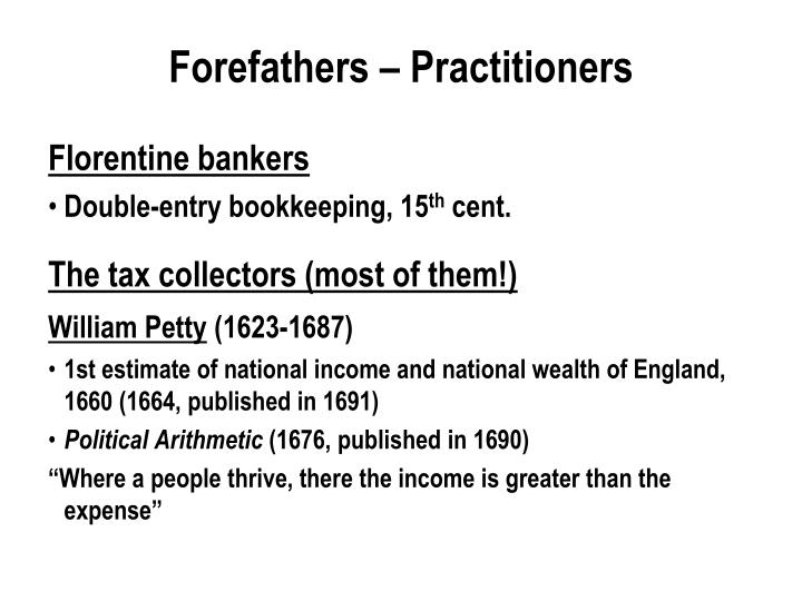 Forefathers – Practitioners