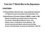 from the 1 st world war to the depression1