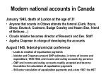 modern national accounts in canada