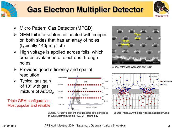 Gas Electron Multiplier Detector