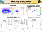 preliminary tracking results reference tracker and correlations with cms ge1 1 detector
