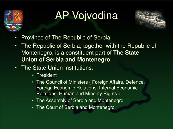 Province of The Republic of Serbia