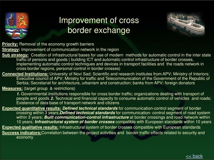 Improvement of cross