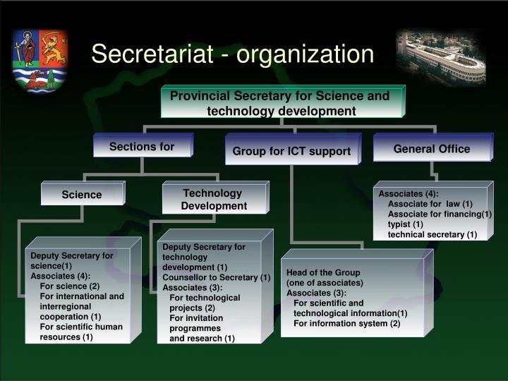 Secretariat - organization