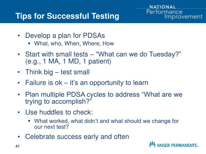 Tips for Successful Testing