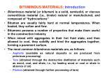 bituminous materials introduction