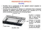 properties of asphalts ductility