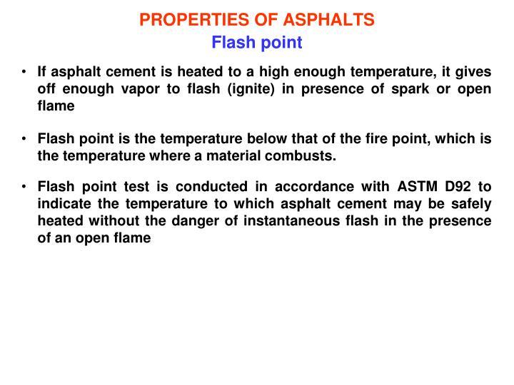 PROPERTIES OF ASPHALTS