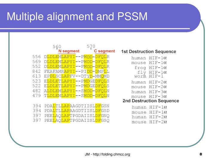 Multiple alignment and PSSM