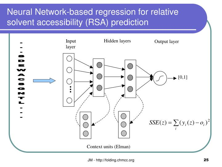 Neural Network-based regression for relative solvent accessibility (RSA) prediction