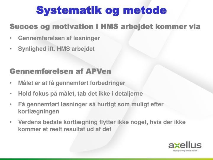 Systematik og metode