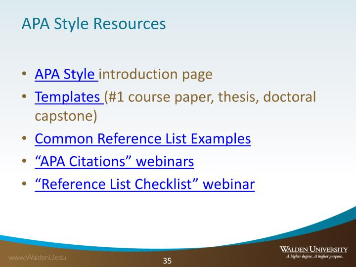 APA Style Resources