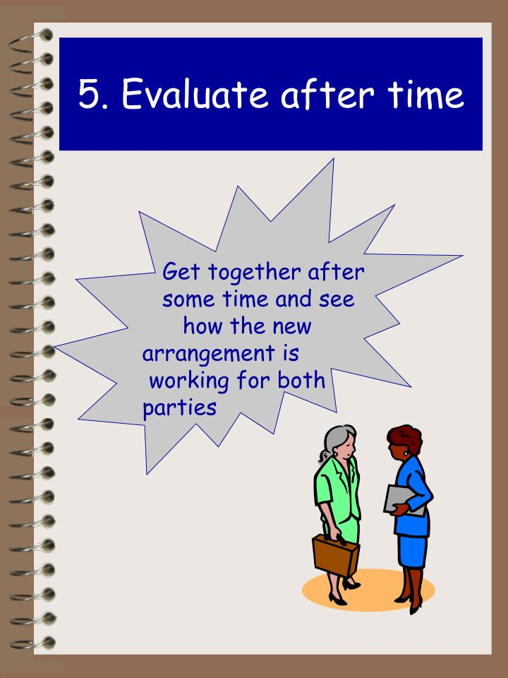 5. Evaluate after time
